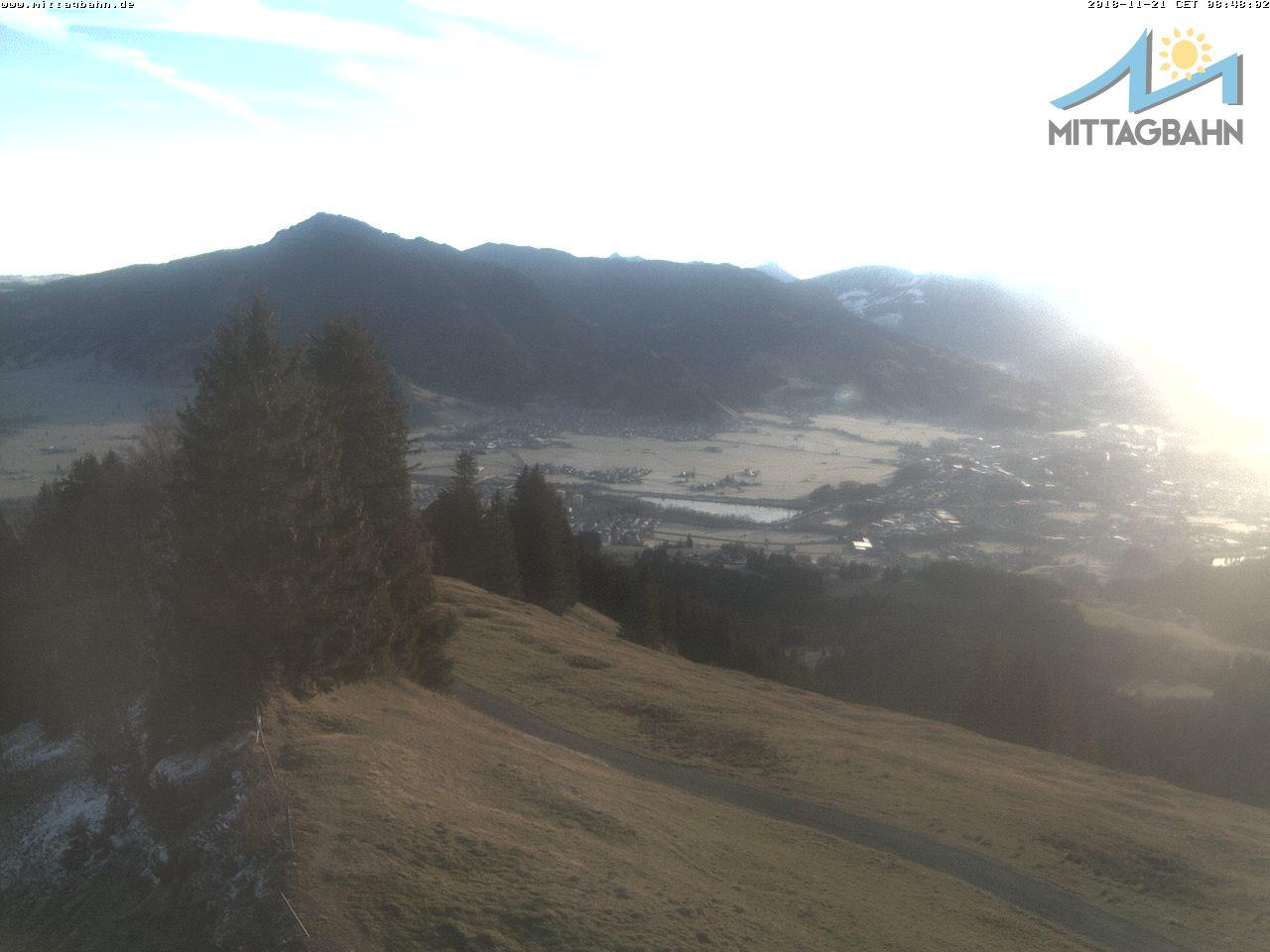 Bergstation, Blick zum Grünten