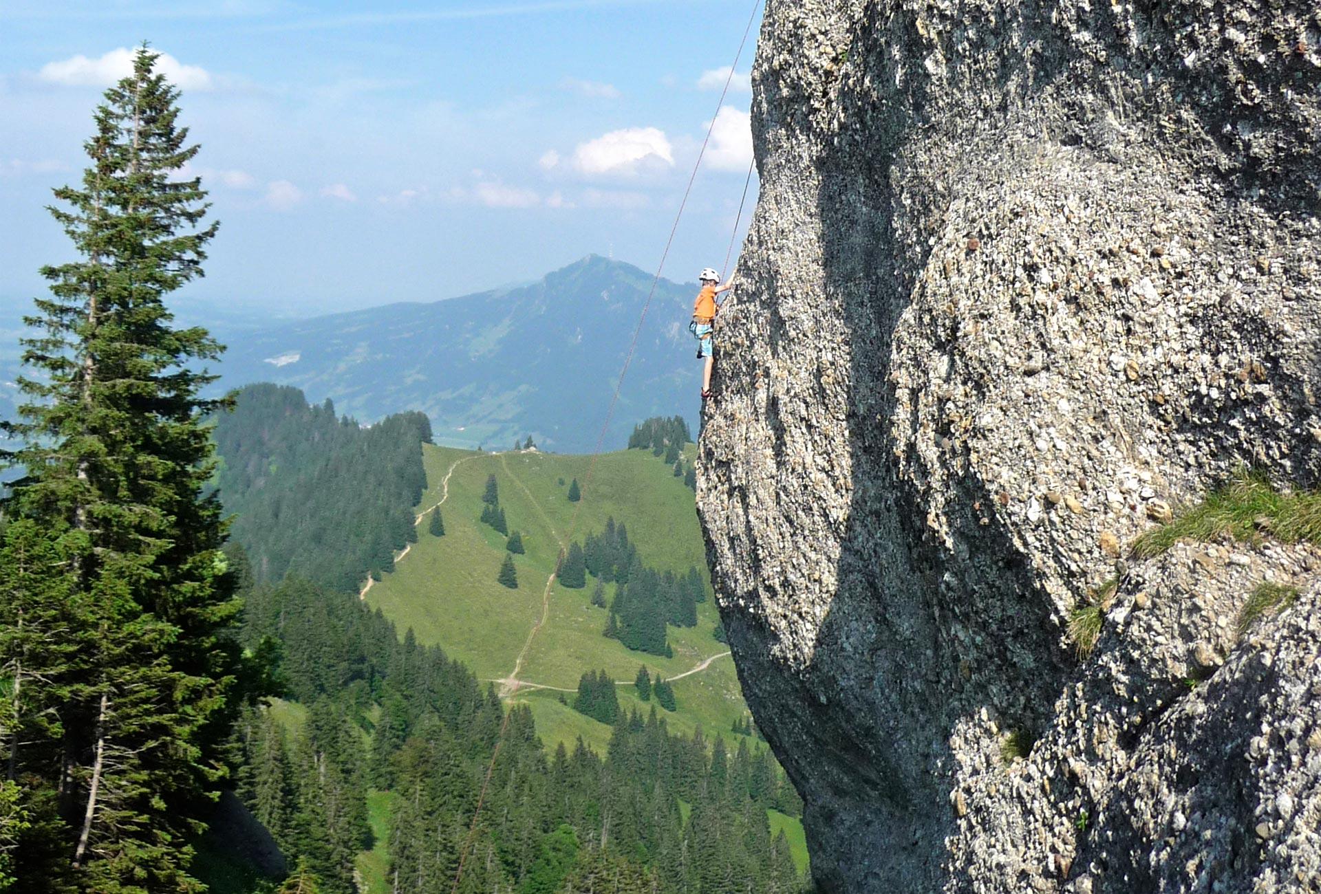 Klettersteig Immenstadt : Klettern mittagbahn immenstadt doppelsessellift tiefschnee